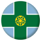 Derbyshire County Flag 58mm Button Badge